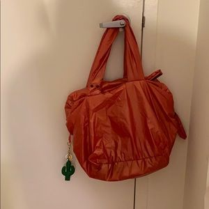 By Chloe Neon Coral Large Puffer Bag